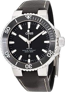 Aquis Date Black Dial Automatic Men's Leather Watch 01 733 7730 4124-07 5 24 10EB