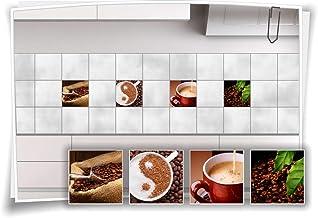 Fliesenaufkleber Bild Fliesenbild Fliesen Aufkleber Kaffee Bad Küche Deko FP1P23