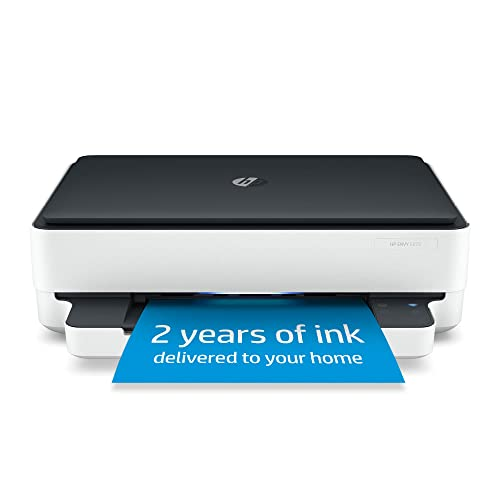 HP ENVY 6075 Wireless All-in-One Printer, Includes 2 Years of Ink Delivered, Mobile Print, Scan & Copy, Works with Alexa (8QQ97A)