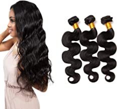 Brazilian Virgin Hair 3 Bundles Body Wave Remy Human Hair weave bundles Can Be Dyed 100g/pcs Total 300g (12 14 16 Inch)