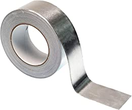 3M 3311 Silver Aluminum Foil Tape - 1 in. x 5 yd. Vapor Resistant Rubber Adhesive Foil Tape Roll. Adhesives and Tapes