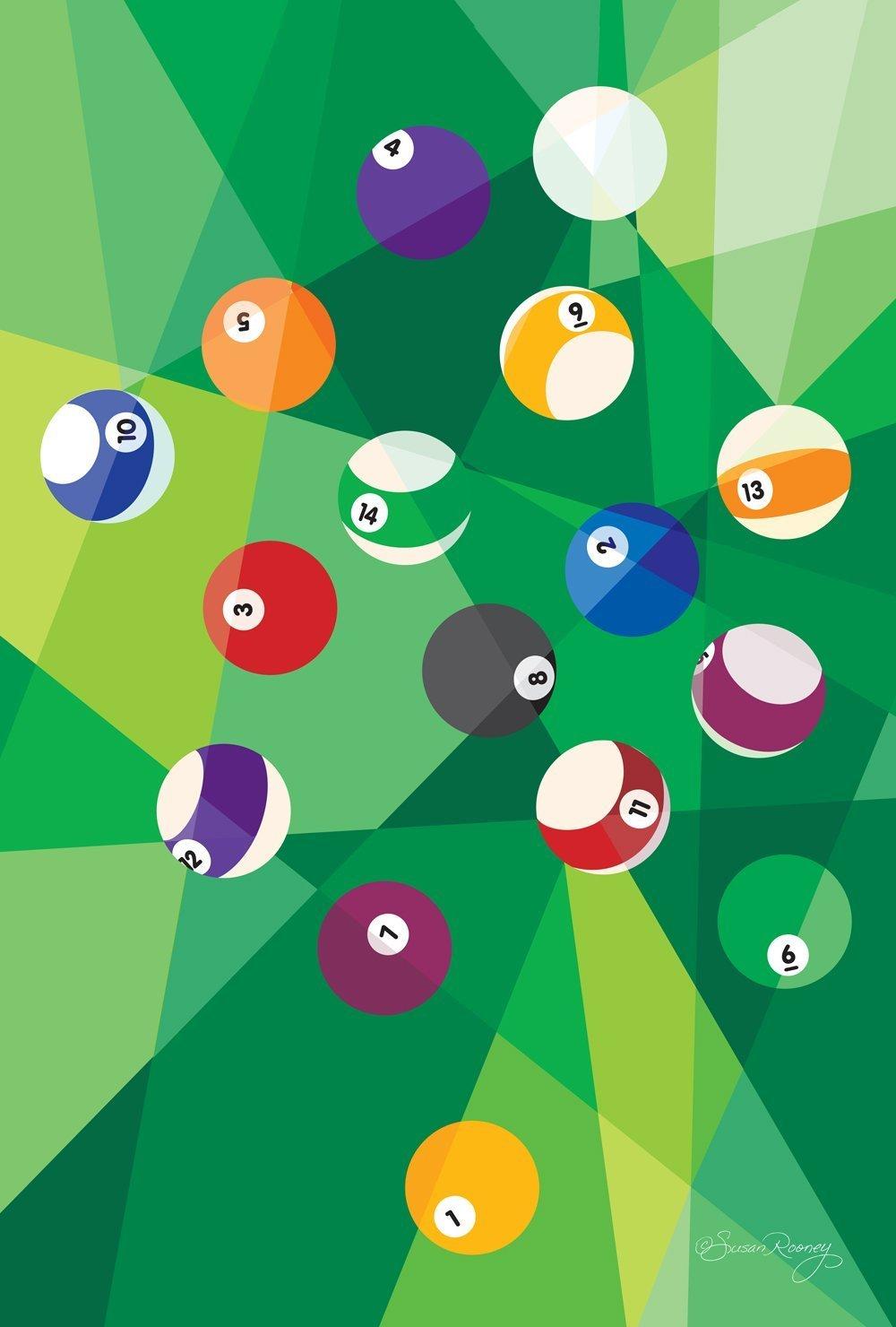 DIYCCY Billar Prismas 12, 5 x 18 Pulgadas Decorativo Colorido ...