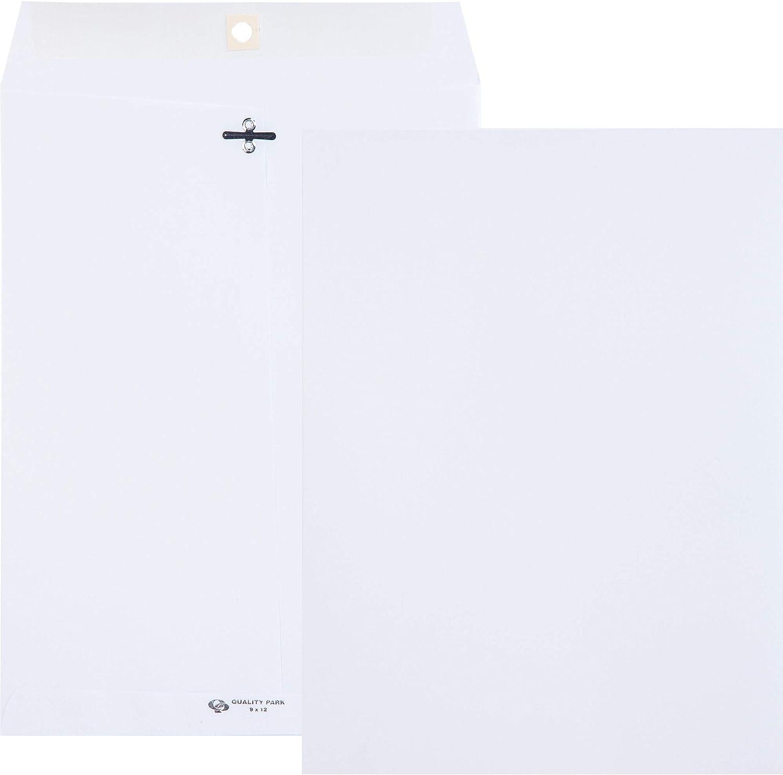 Quality Park Manufacturer trust OFFicial shop QUA38390 Clasp White Box 100 Envelopes