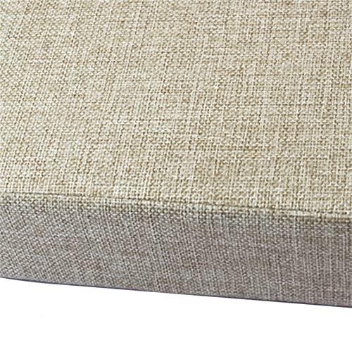 Penaio Cojín de asiento de espuma viscoelástica, cómodo cojín de silla ergonómico, fibra de poliéster, asiento para interior, cocina, dormitorio, silla y sofá, beige oscuro, 50 x 50 x 8 cm