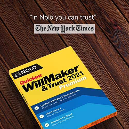 Nolo Quicken WillMaker & Trust 2021 Premium | Living Trust | Disc & Download Keycard | Windows & Mac | Nolo's eBook Library (Includes Get It Together + Special Needs Trust + More)