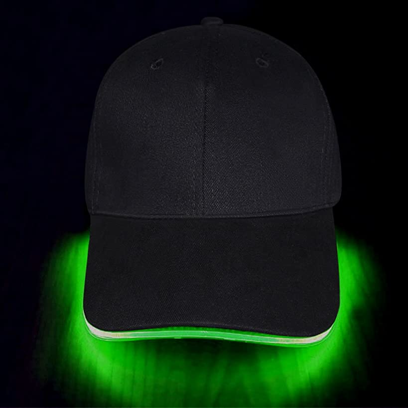 LED Hat, Ultra Bright LED Light Up Battery Powered Unisex Baseball Cap Easily to Adjust Fits Man Women, 3 Modes Glowing Hat Perfect for Party Hip-Hop Running Hunting Jogging and More
