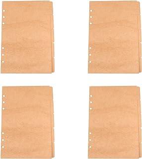 NUOBESTY Cartes Intercalaires pour Pages Dindex de Séparateurs en Papier Kraft A5 Intercalaires en Papier pour Cahiers à R...
