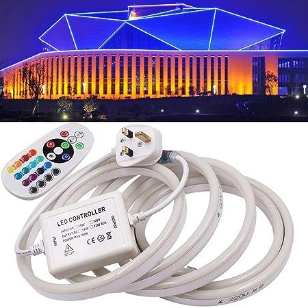 5M LED Strip Neon Flex Rope Light Waterproof DC 12V Flexible Outdoor Lighting UK