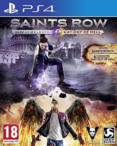 Koch Media Saints Row IV: Re-elected Gat Out Of Hell, PS4 Básico PlayStation 4 Inglés vídeo - Juego (PS4, PlayStation 4, Acción / Aventura, Modo multijugador, M (Maduro))
