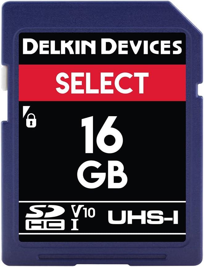 Delkin Devices 16GB Select SDHC UHS-I (V10) Memory Card (DDSDR16316GB)