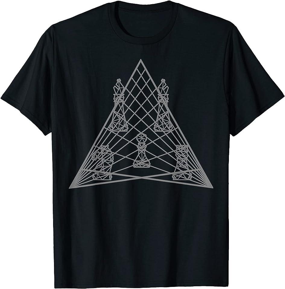 Schach Figuren Geometrie T-Shirt