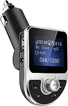 Transmisor Bluetooth FM, Receptor Bluetooth Reproductor de MP3 Transmisor de Radio para Automóvil con Carga Rápida 3.0 Manos Libres Aux. Puerto USB dual para iPhone, Samsung, Android