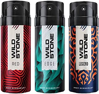 Wild Stone Edge, Legend and Red Deodorant For Men 150 ML Each (Pack Of 3)