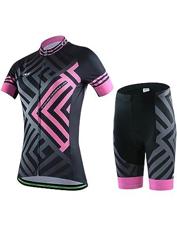 EDK Completo da Ciclismo da Donna Completo da Ciclismo Invernale Completo da Esterno per MTB da Strada Manica Lunga Abbigliamento Sportivo Piste per Pneumatici Neri,M
