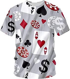 Harajuku Men 3D Print Poker Game T-Shirt Man Hip Hop Tshirt Homme Short Sleeve O-Neck Tees Unisex