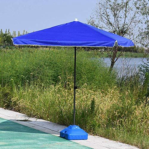 JWW Parasol De Patio Balcon Plage Parasol 200 Cm Parasol Déporté Protection UV Parasol De Marché pour Extérieur Bleu/Rouge