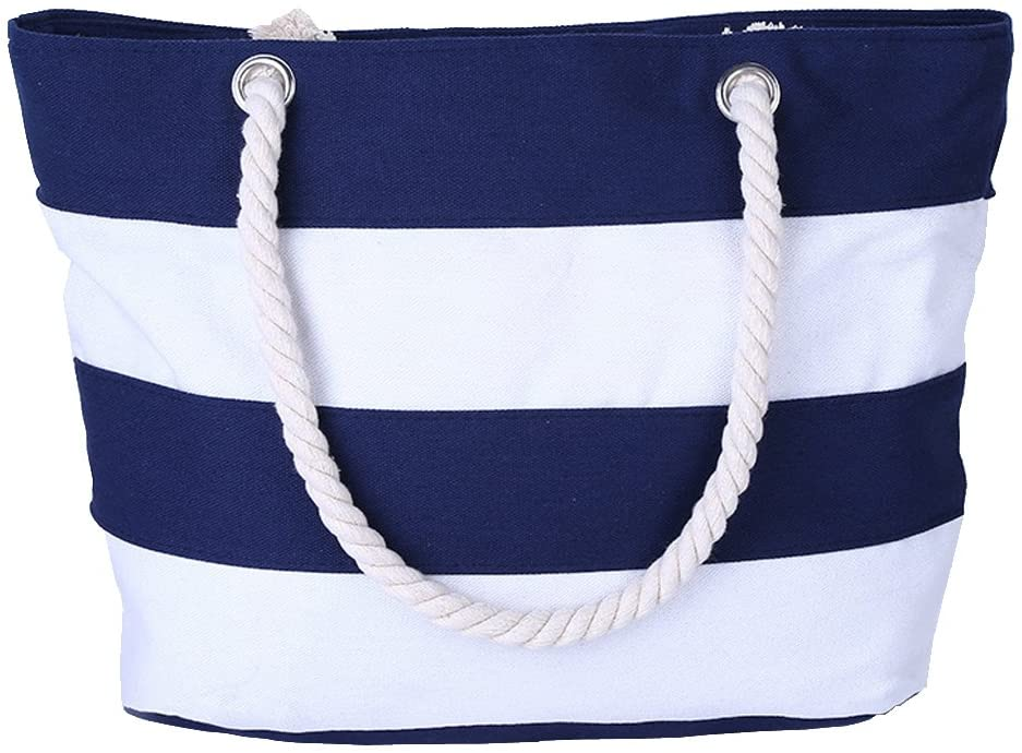 AIYoo Large Beach Bag with Inner C Handle Rope Zipper and Regular Popular brand in the world dealer Pocket