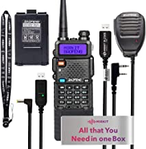 Extended Ham Radio Starter Kit Mirkit Baofeng Radio UV-5R MK4 8 Watt MP Max Power with 3800 mAh, Handheld Mic, Baofeng Pro...