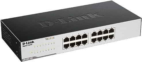D-Link GO-SW-16G Gigabit Easy Ethernet Gigabit Desktop Switch, Schwarz (El diseño puede variar)