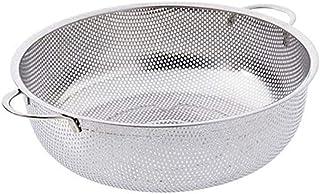 Bassin Égoutter en acier inoxydable de cuisine légumes bassin Accueil Fruit Basket ronde Panier de lavage AOIWE (Size : Sm...