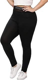 137d73d44d506 SweatyRocks Women's Plus Size Sport Mesh Trouser High Waist Long Workout  Yoga Legging Active Pant