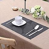 Lovecasa PVC Tischset, Platzset, 6 teilig Set Tischmatte - 8