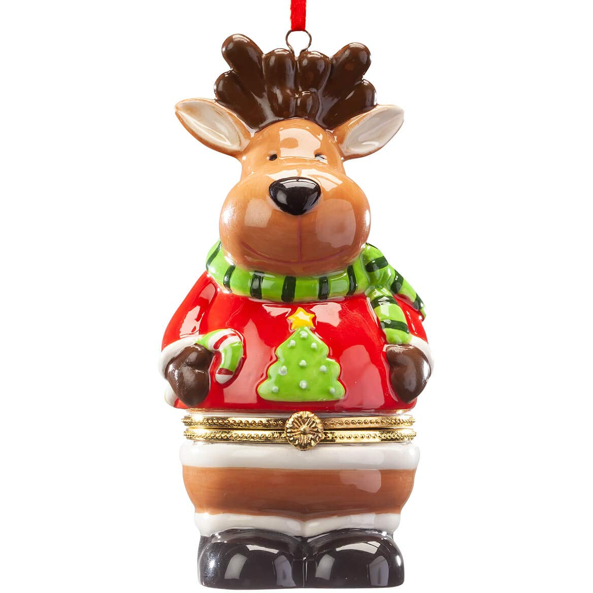 Image of Holiday Reindeer Trinket Box Ornament