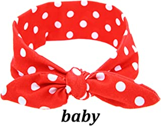 Balalei Mom And Baby Rabbit Ears Baby Headbands Hair Hoop Stretch Knot Hair Bows Cotton Children Hair Bands For baby Hair Accessories,as picture 47