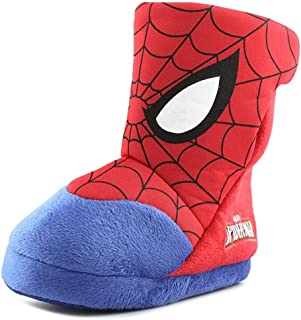 Marvel Spiderman Boys Boot Slippers Red Toddler/Little Kid
