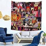 XCNGG Watchmen Panel Collage Tapiz Colgante de Pared Celestial Tapiz de Pared Hippie Alfombras de Pared Decoración de Dormitorio Tapiz psicodélico 59 x 59 Pulgadas