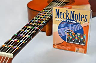 NeckNotes Guitar Trainer | Color Coded Fretboard Fret Map Note Stickers for Beginner/Learning Guitar | Classical Edition