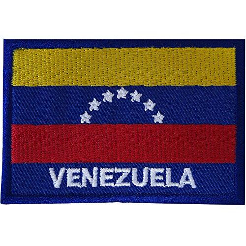 Parche bordado con la bandera de Venezuela para coser en América del Sur