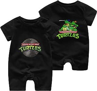 Mutant-Ninja Turtles Newborn Baby Shortsleeve Body Suits Cotton Jumpsuit Black