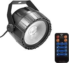 Gecheer 10W RGB UV COB LED Par Light Wireless Remote Control Stage Bright Smooth Lighting Lamp DJ DMX Lights for Party Bar...