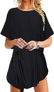 YOINS Women Mini Dresses Long Sleeve Casual Loose Tunic Plain Simple T-Shirt Mini Dress