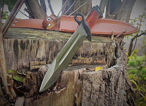 AK-47 CCCP Kampfmesser- klassisches Militär Bajonett - Seitengewehr Leder-Gürteltasche ;Edelstahl , Klinge gestanzt mit : AK47 CCCP ! NEU ! OVP ! Jagdmesser 31 cm von BAER !