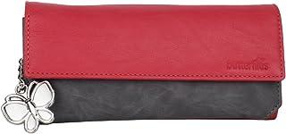 Butterflies Women Wallet (Red and Grey) (BNS 2110RD)