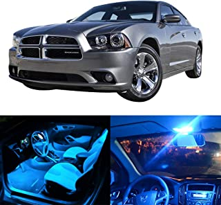 SCITOO LED Interior Lights 8pcs Ice Blue Package Kit Accessories Replacement Fits for 2011-2014 Dodge Charger