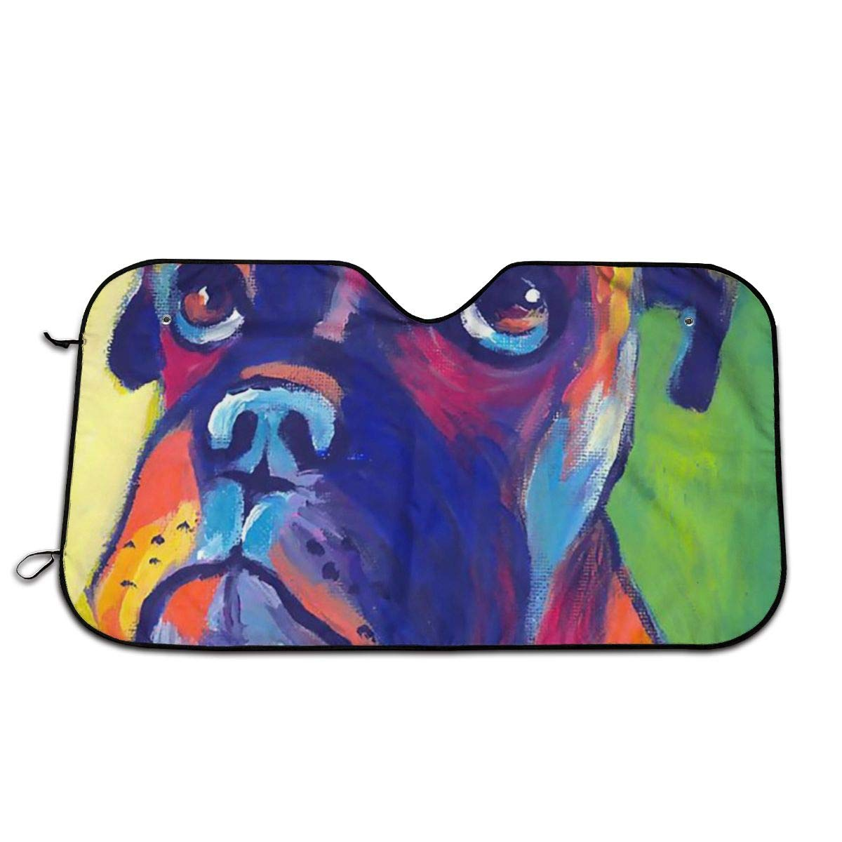 Max 85% OFF Adiabatic Car All stores are sold Sunshade Whimsical Boxer Auto Dog Windwh Painting