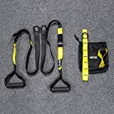 METIS Resistance Training Suspension Straps | Suspension Trainer Strength Training Equipment - Home Gym Accessories Kit | Bodyweight Exercise & Workout