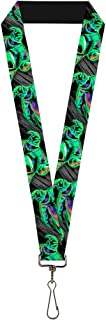 Buckle Down Lanyard-1.0-Oogie Boogie Pose Electric Glow