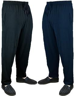 Bains and Scott Big Mens Greg Twin Pack Plain Pyjama Bottoms Lounge Pants Sizes 2XL 3XL 4XL 5XL 6XL 7XL 8XL