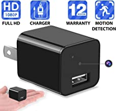 1080P Motion Detection USB Wall Charger Camera Plug Spy Cam Adapter Camera Loop Recording Nanny Cam Support to 32GB Storage