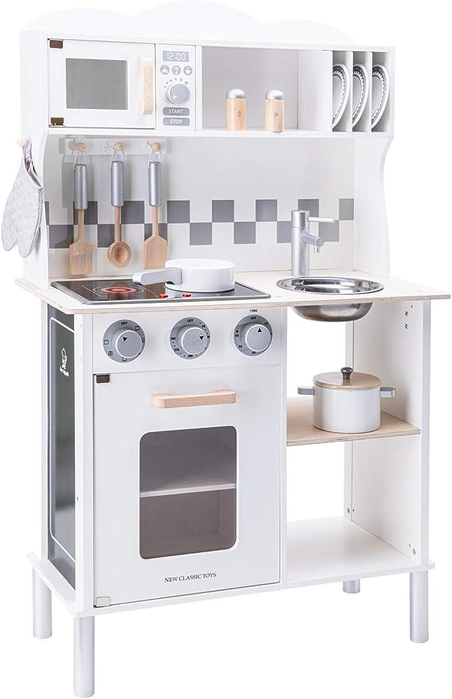 New classic toys,cucina accessioriata per bambini,in legno 11068C