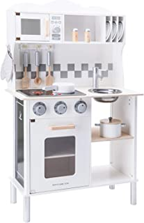 New Classic Toys Kitchenette-Modern-Electric Cooking-White, Color Blanco (11068)