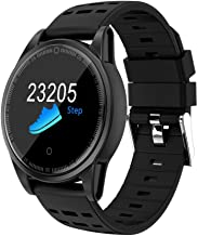 Sandistore Smart Watch for Android/iOS Phones,Round Bluetooth Smartwatch OLED Touchscreen,Metal case,IP67 Water Proof,Several Sports Mode, Blood Pressure, Blood Oxygen Monitoring