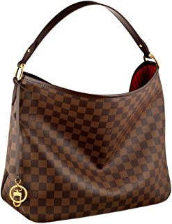 Louis Vuitton Damier Canvas Delightful MM Shoulder Tote Handbag Article   N41460 Made in France 757d517bb7459