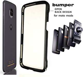 Moto Z3 Case Z3 Play Bumper Case Compatible Moto Mods Dngn Luxury Aluminum Metal Frame Cover 4 Corners Shockproof Protective Slim Fit for Motorola Moto Z3/Z3 Play (Moto Z3/Z3 Play Bumper)
