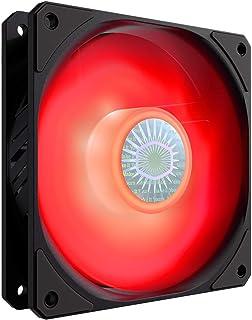 Cooler Master SickleFlow 120 V2 Red Led Square Frame Fan with Air Balance Curve Blade Design, Sealed Bearing, PWM Control ...