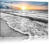 wunderschönes Meer schwarz/weiß Format: 80x60 auf
